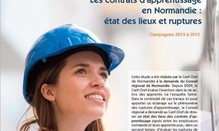 Les contrats d'apprentissage en Normandie : état des lieux et ruptures