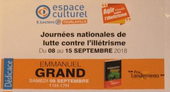 Rencontre – dédicace avec Emmanuel Grand – Tourlaville Distribution- Galerie marchande E. Leclerc – TOURLAVILLE (50)