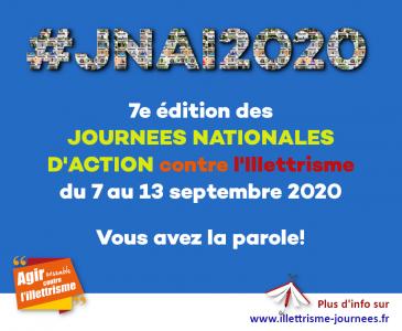 Journées nationales d'action contre l'illettrisme 2020 : « Vous avez la parole »