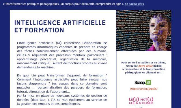 Transformer les pratiques pédagogiques : notre fiche « Intelligence artificielle et formation »